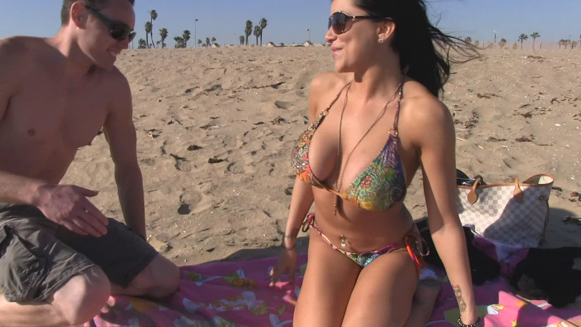 Big Tits On The Beach 2