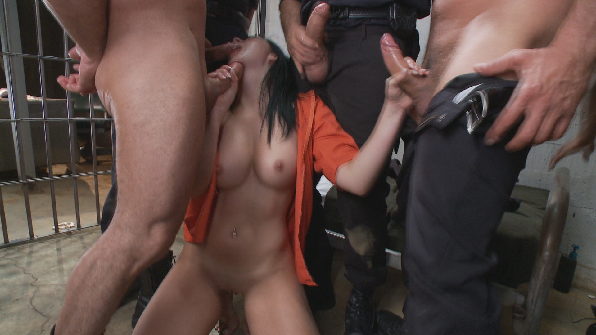 Bound Gangbangs: French Hottie Gets Pounded By 5 Prison Guards xvideos174122