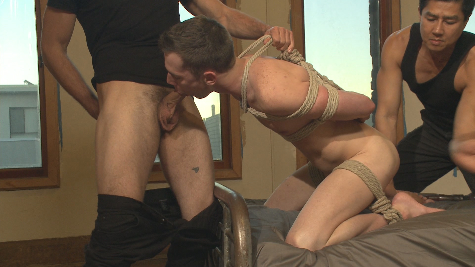 Men On Edge: Hung Stud Tied Up, Ass Fucked And Made To Swallow Cock Xvideo gay